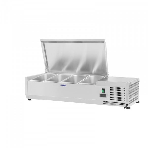 Vetrina refrigerata - 120 x 39 cm - 4 contenitori GN 1/3