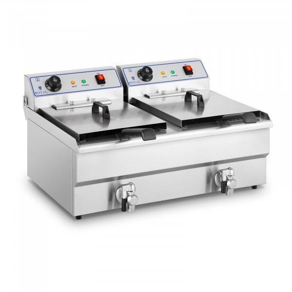 B-WARE Friggitrice elettrica - 2 x 16 litri - 400 V