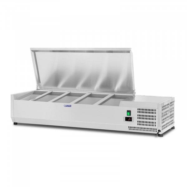 Vetrina refrigerata - 120 x 33 cm - 5 contenitori GN 1/4