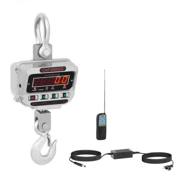 Bilancia a gancio - 3 t / 0.5 kg - LED