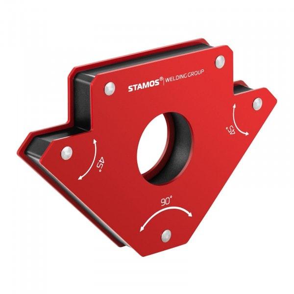Supporto magnetico per saldatura - set da 2 pezzi - 19 x 12 x 2,4 cm