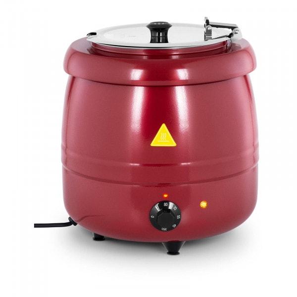 Zuppiera elettrica - 10 L - Rivestimento rosso