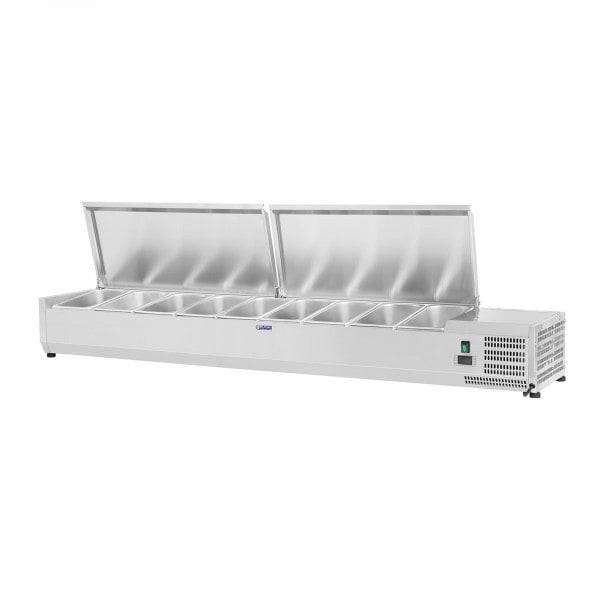 Vetrina refrigerata - 180 x 33 cm - 9 contenitori GN 1/4